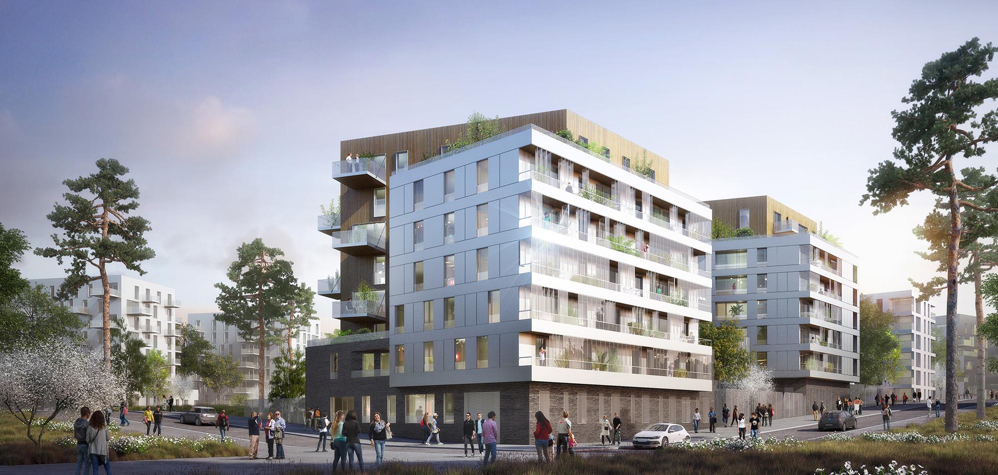 73 logements zac paul bourget paris 13e jean fran ois schmit for Bourget paris